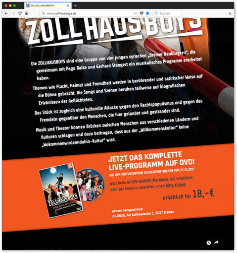 ZOLLHAUSBOYS Website