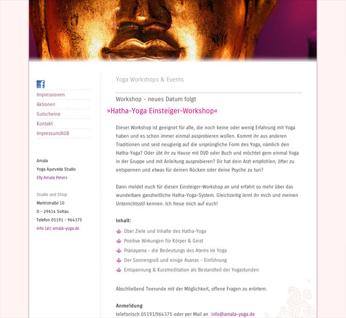 Redesign Internet Amala Yoga
